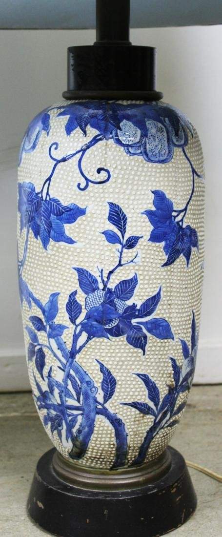 mid 20th c Japanese moriage type vase/ lamps - 6