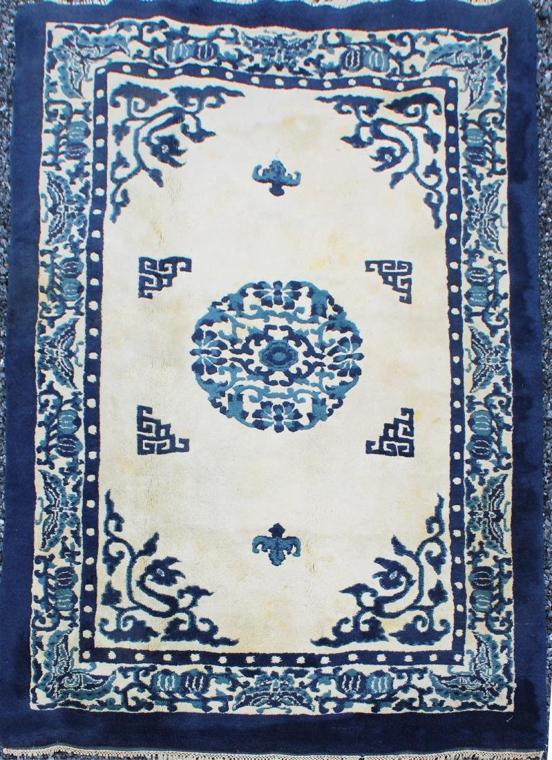 late 20th c sculpted Chinese area rug