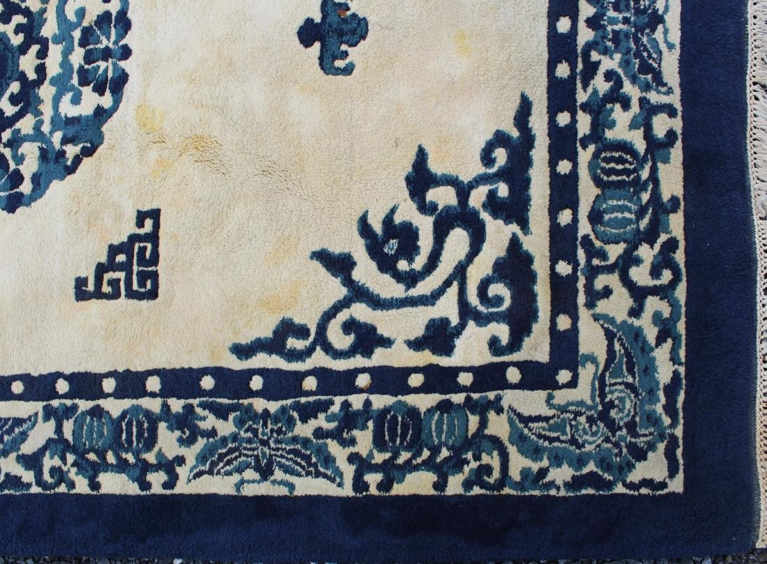late 20th c sculpted Chinese area rug - 3