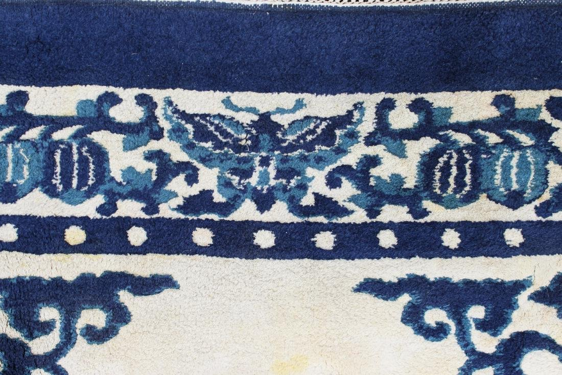 late 20th c sculpted Chinese area rug - 5