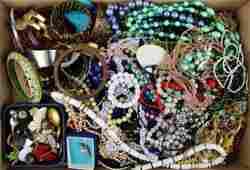 vintage costume jewelry necklaces, bangles, etc.