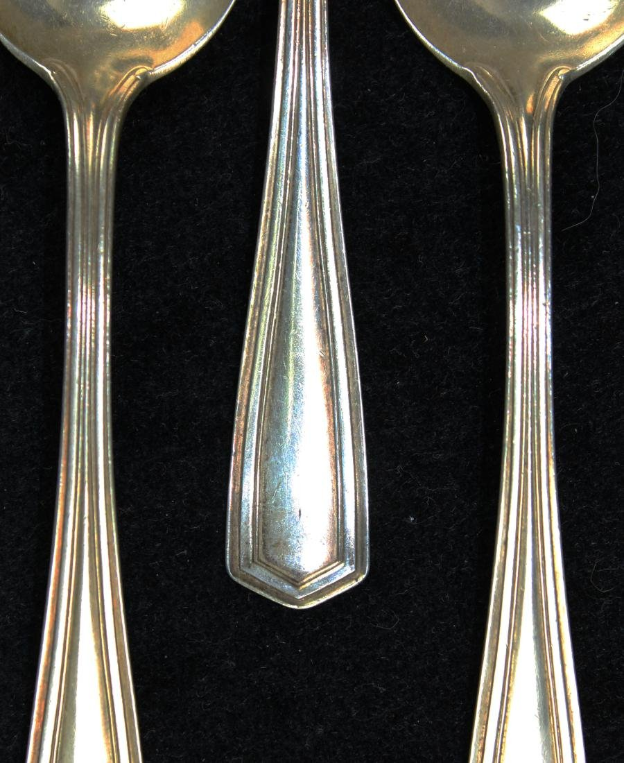 5 Simpson, Hall & Miller Co. sterling tablespoons - 2