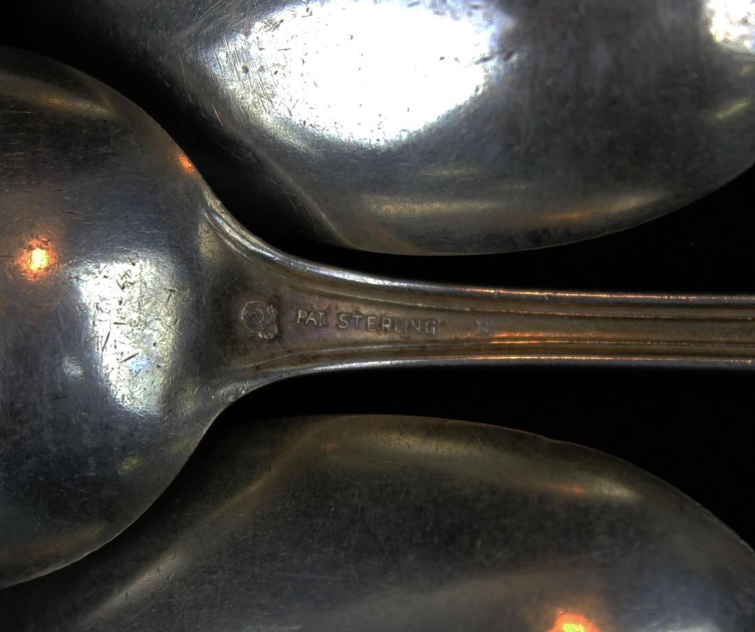 5 Simpson, Hall & Miller Co. sterling tablespoons - 3