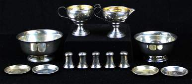 group of sterling holloware incl. Cartier bowl