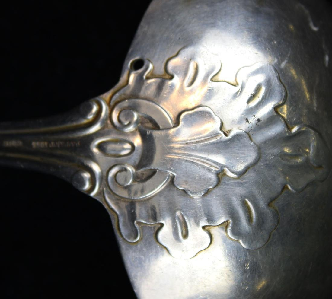mid-19th c. coin silver punch ladle - 5