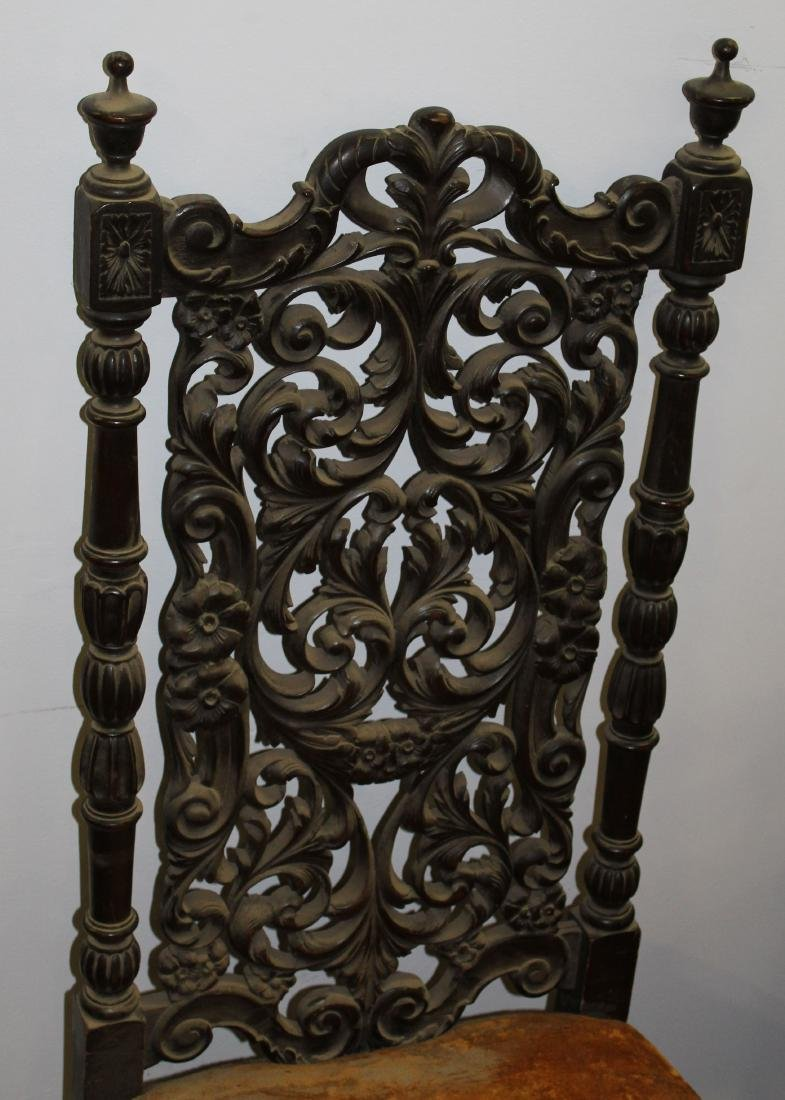 set of six late 19th c  Jacobean dining chairs - 2