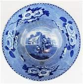 19th c. transferware soft paste porcelain bowl
