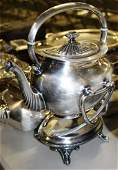 large lot of silverplated hollowware