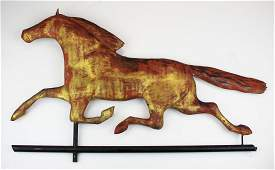 early 20th c running horse weathervane