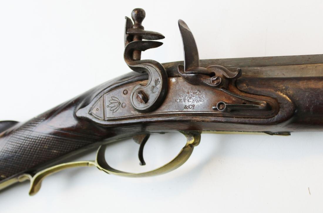 good as-found late 18th c flintlock rifle - 10