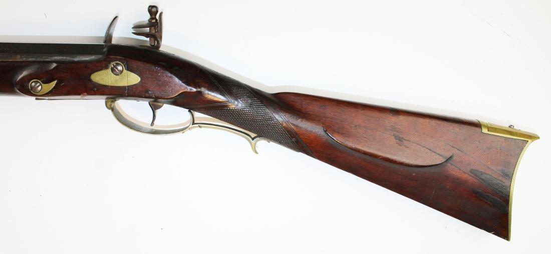 good as-found late 18th c flintlock rifle - 4