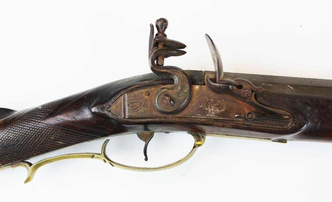 good as-found late 18th c flintlock rifle - 6