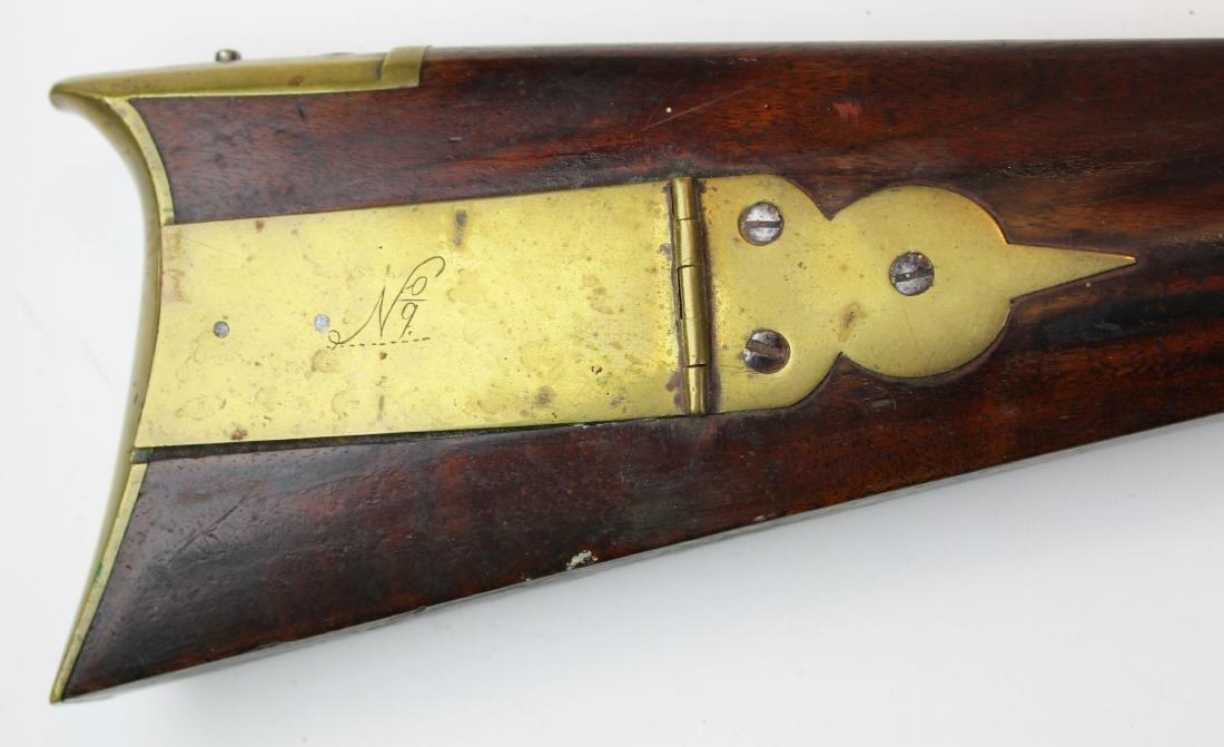 good as-found late 18th c flintlock rifle - 7