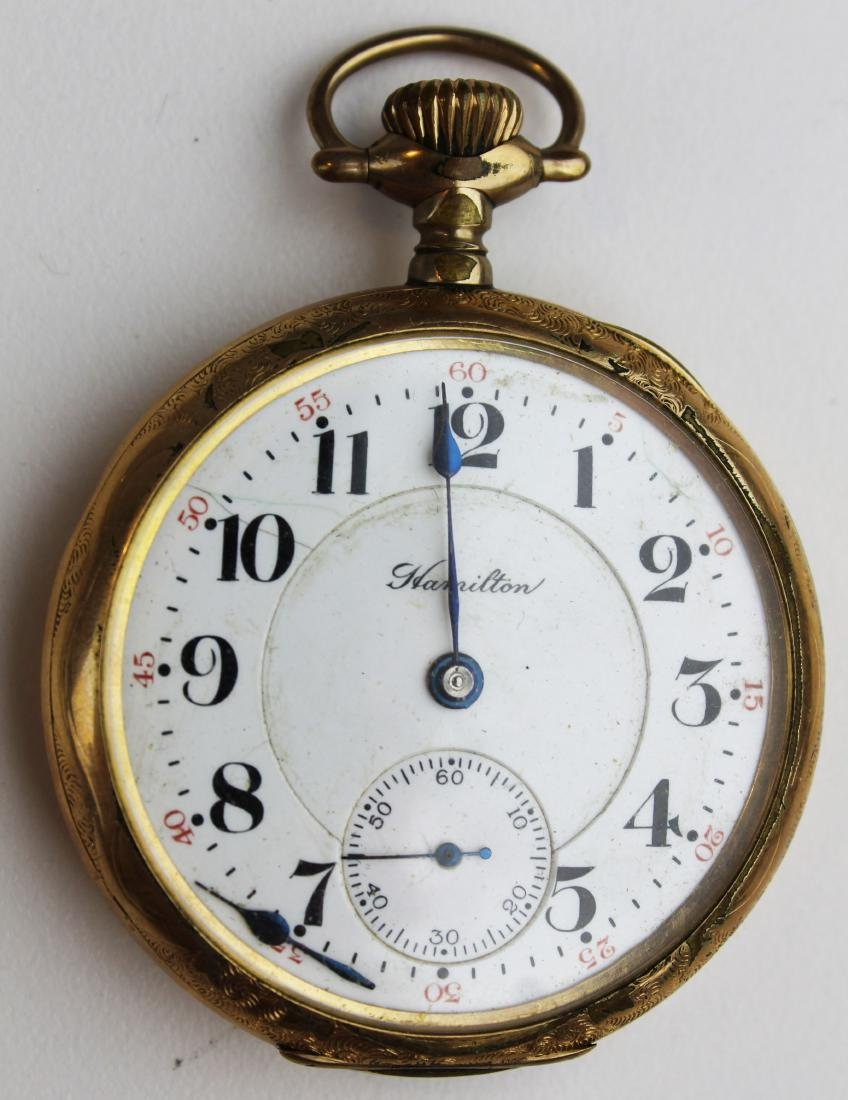 Hamilton 21 jewel open face pocket watch
