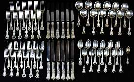 73 pcs. Towle Old Colonial sterling flatware