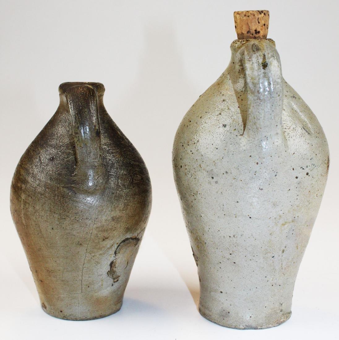 two small salt glazed stoneware jugs - 5