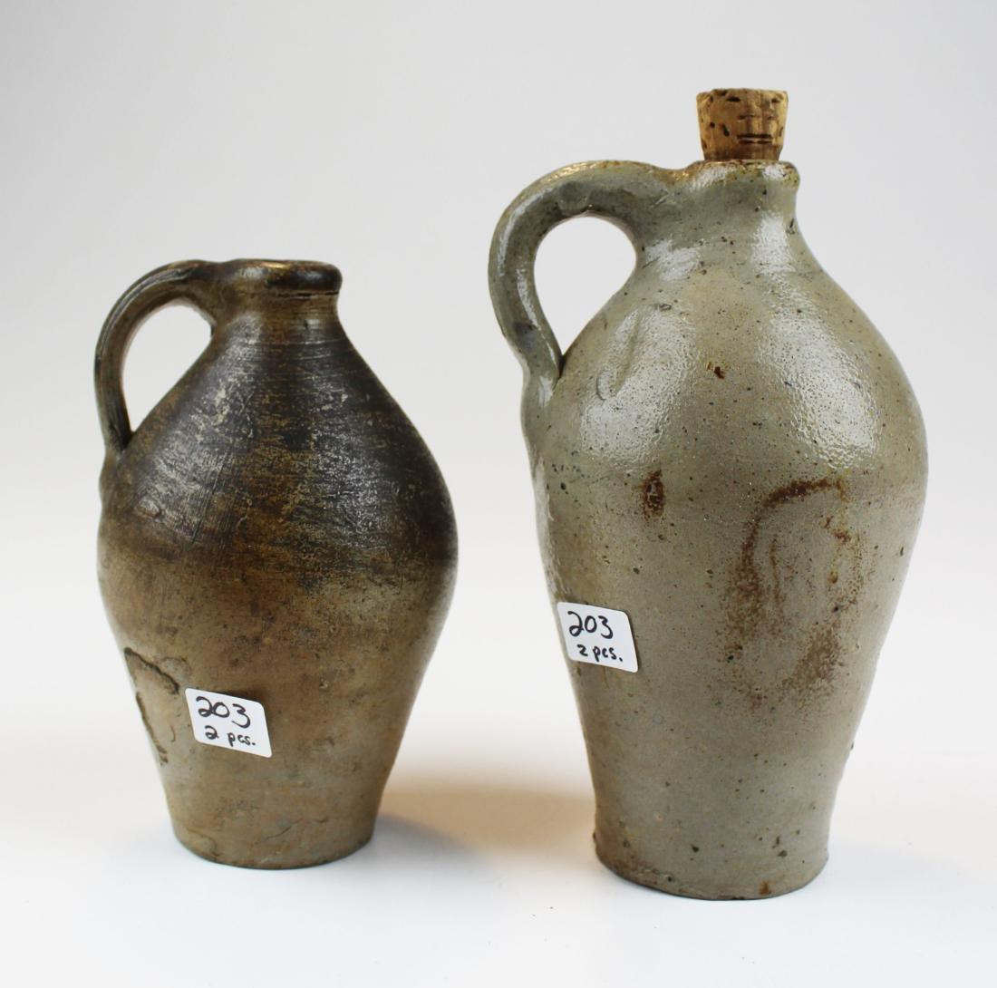 two small salt glazed stoneware jugs - 7