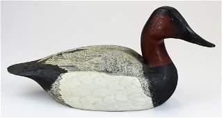 1976 Torry Ward canvasback drake decoy