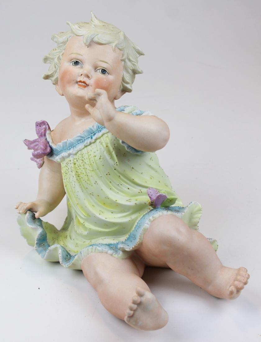 German Bisque porcelain piano baby figure - 2