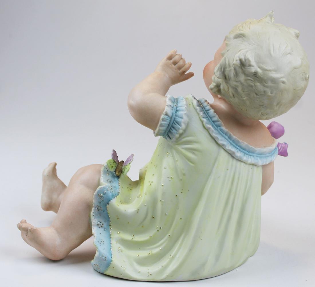 German Bisque porcelain piano baby figure - 4