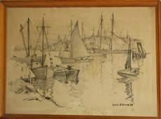 Emile A Gruppe (VT 1896-1978) Harbor
