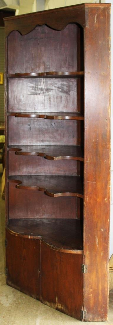 19th c pine corner cupboard - 2