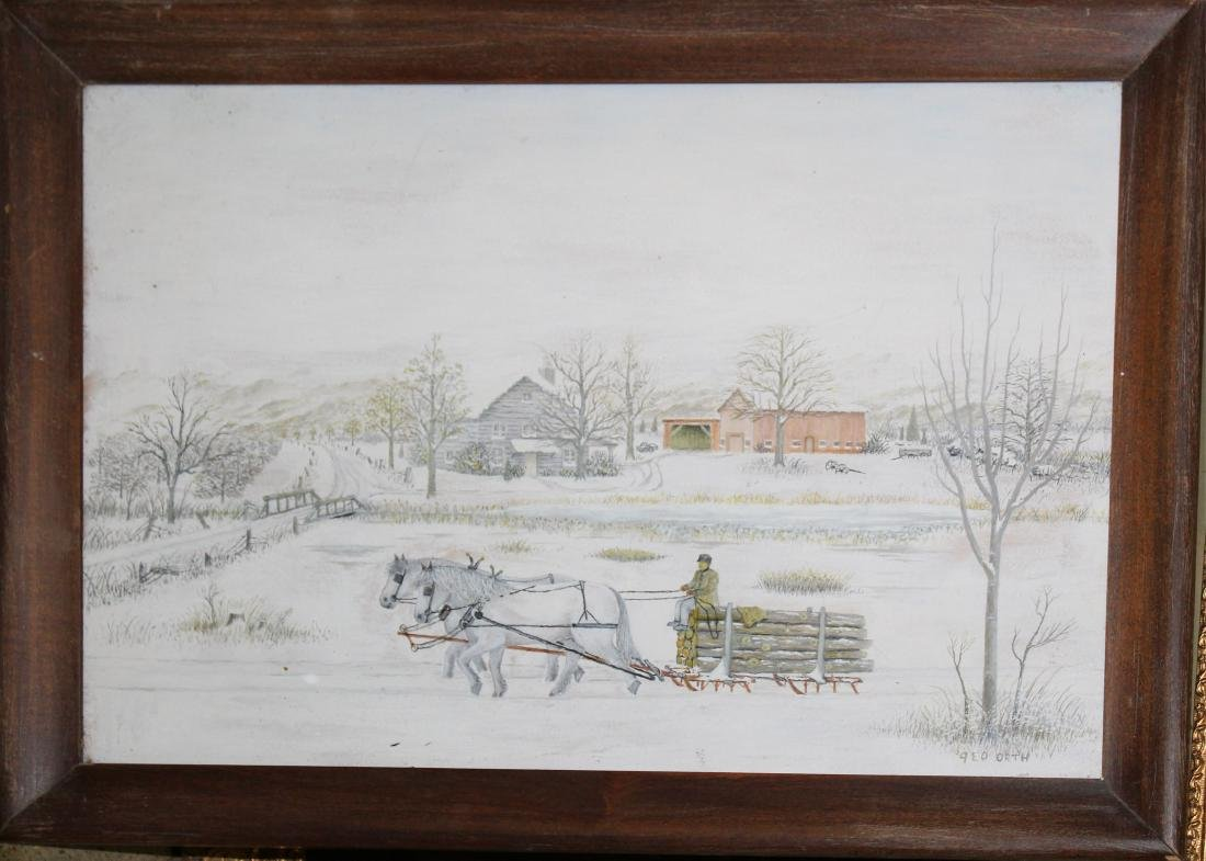 George Orth (20th c) Winter Scene