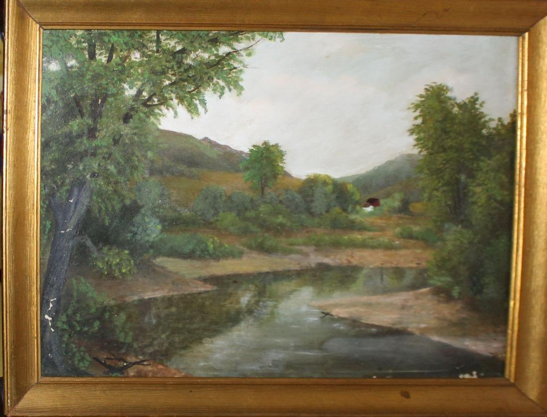 unsigned 19th c American school landscape