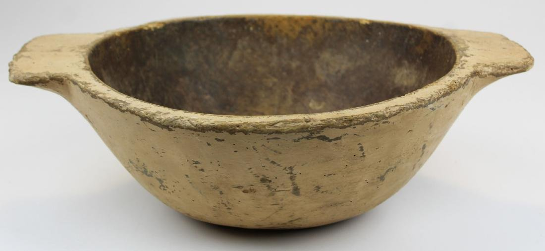 18th- early19th c Germanic wooden bowl