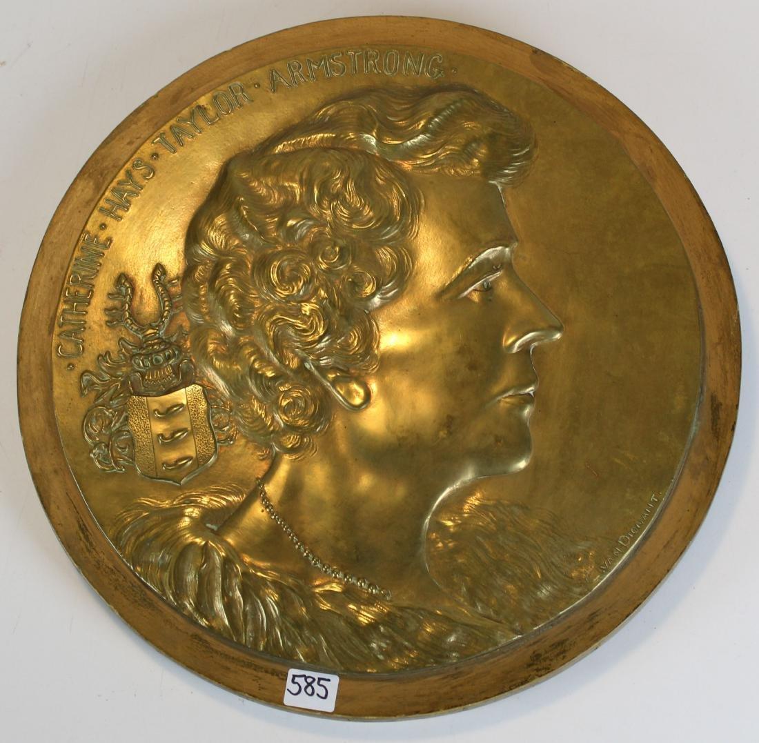 C van Dionant bronze bas relief