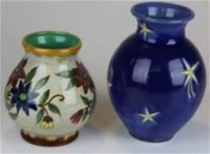 2 pcs art pottery incl. Gouda, Mayforth