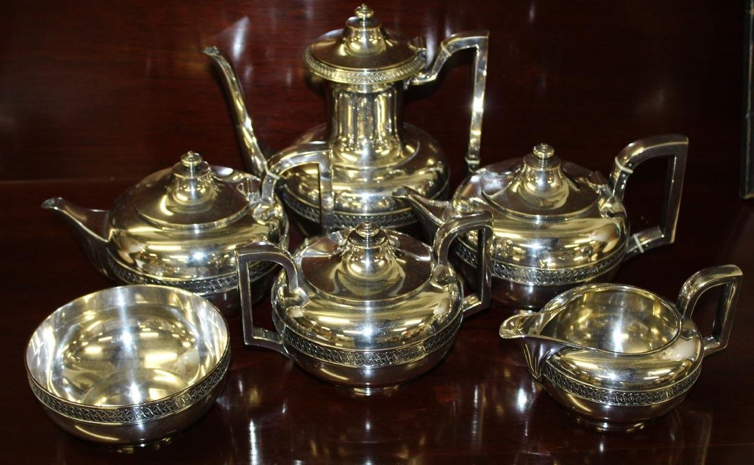 6 pc. Gorham silverplated tea service