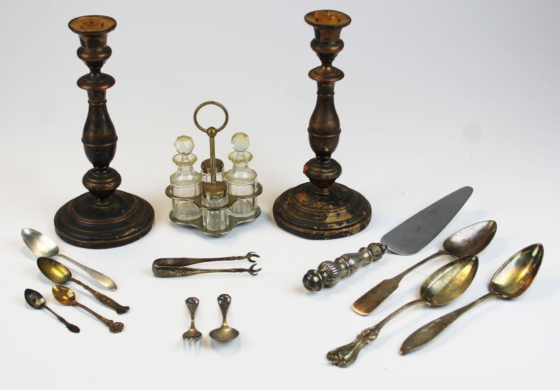 lot of sterling, coin, and plated flatware