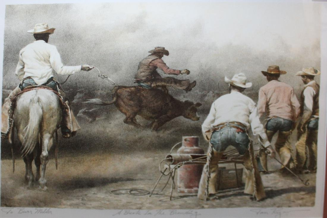 Tom Ryan Western Art stone pulled litho