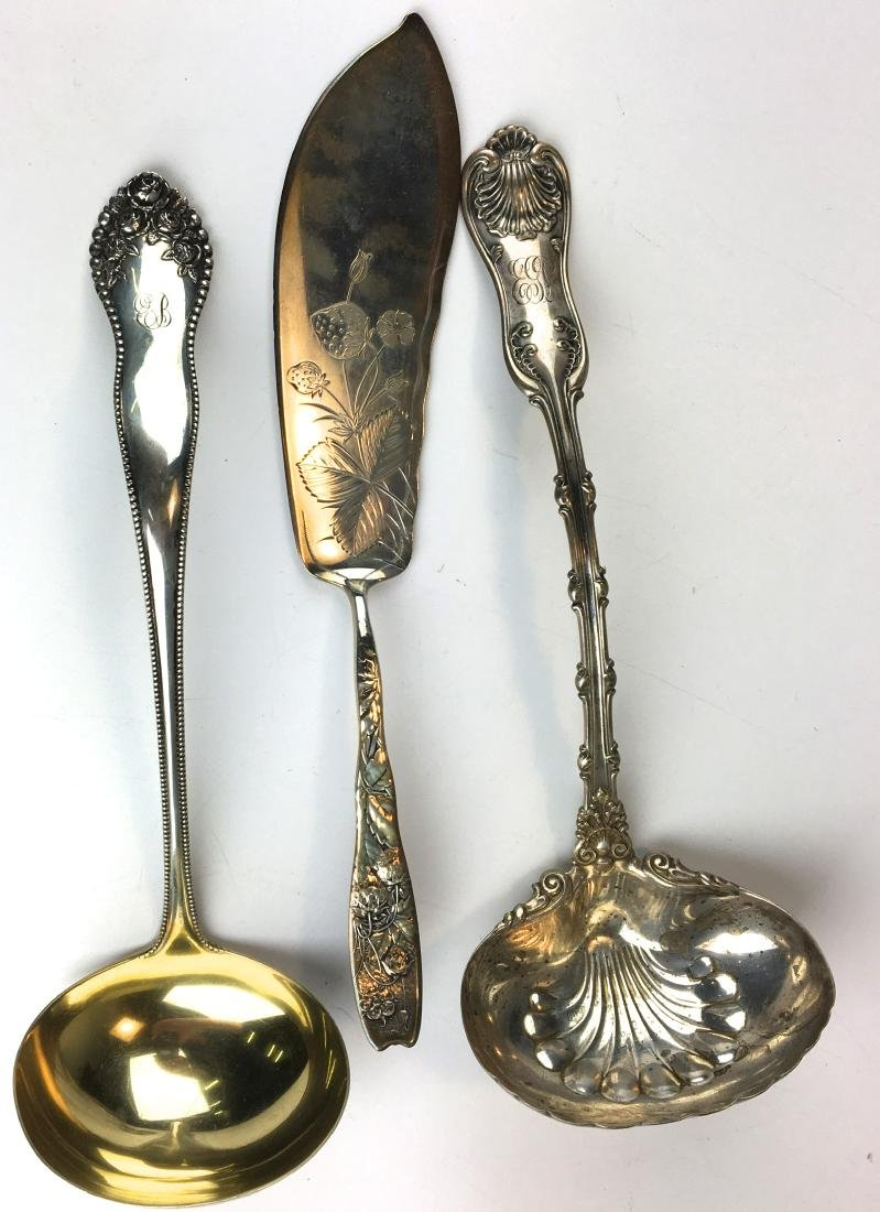 3 fine sterling serving pieces