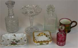 lot of cut glass and mixed china incl. Herend
