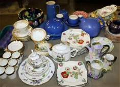 Group of late 19th c  early 20th c ceramics