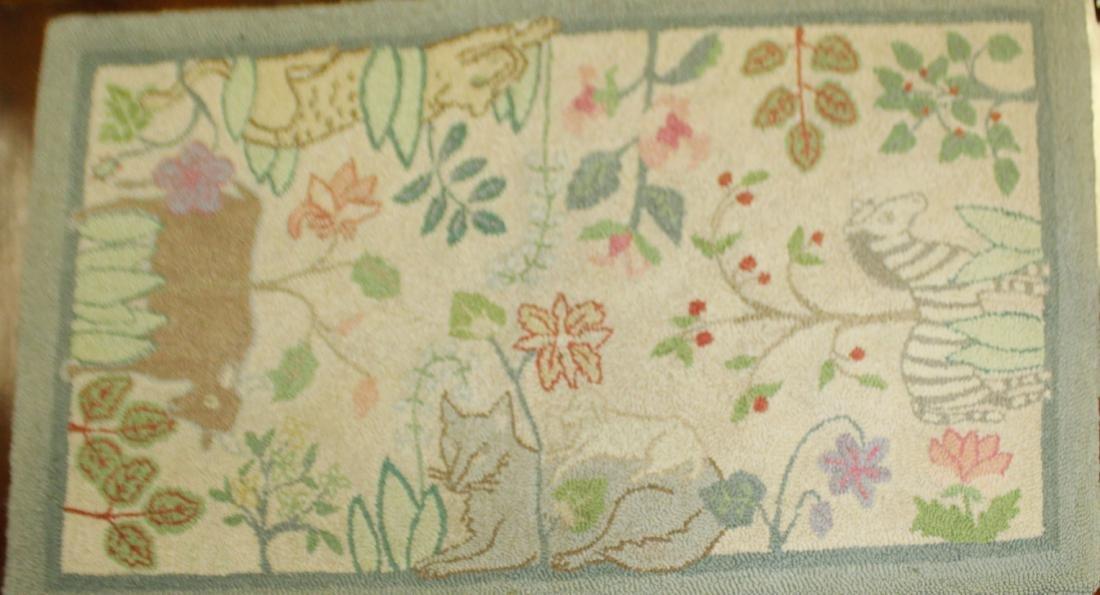 1985 McAdoo artisan hooked rug