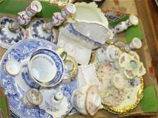 lot of Victorian  19th c porcelain tableware