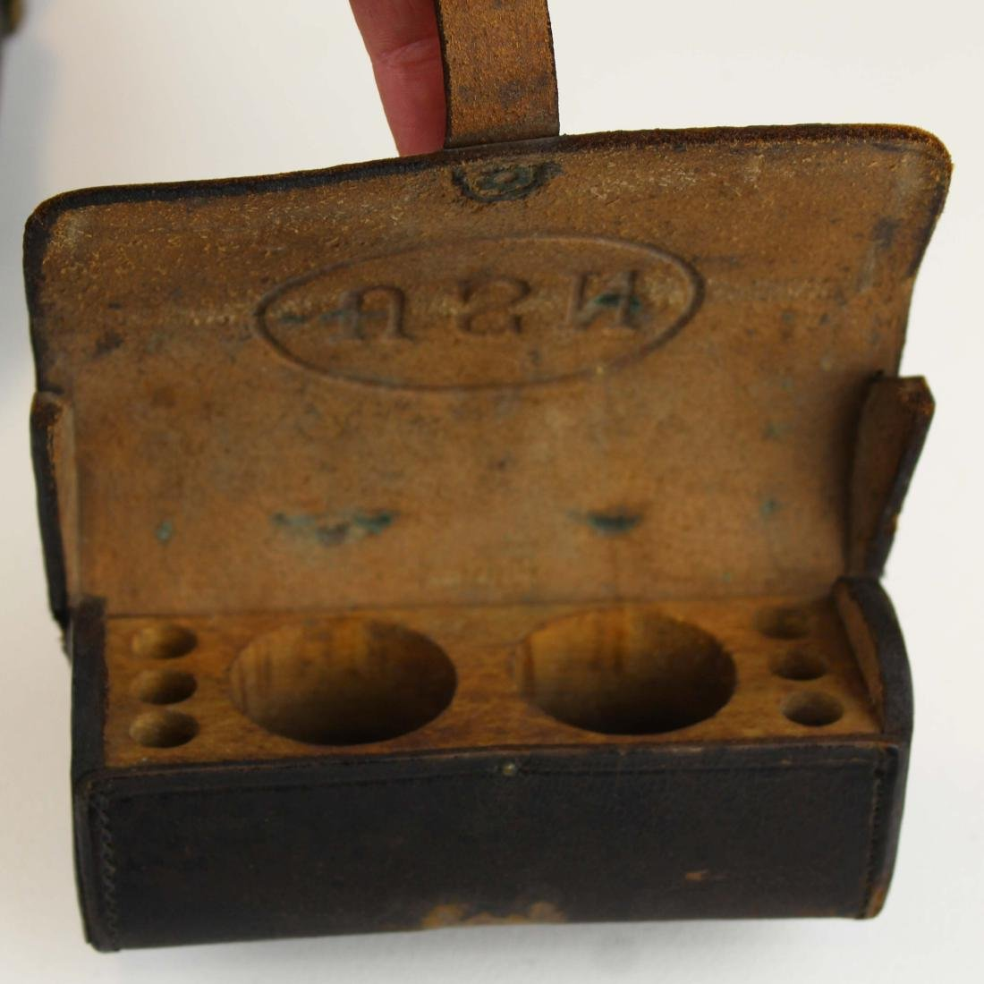 three Civil War US cartridge boxes - 5