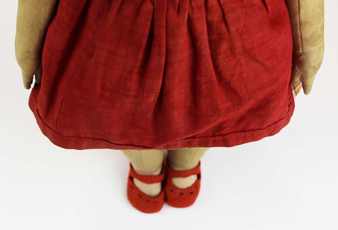 early 20th c Kathe Kruse painted cloth girl doll - 10