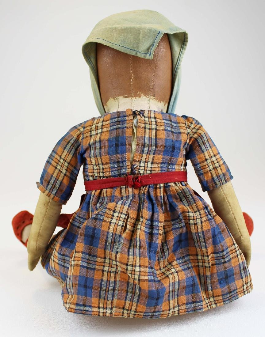 early 20th c Kathe Kruse painted cloth girl doll - 4