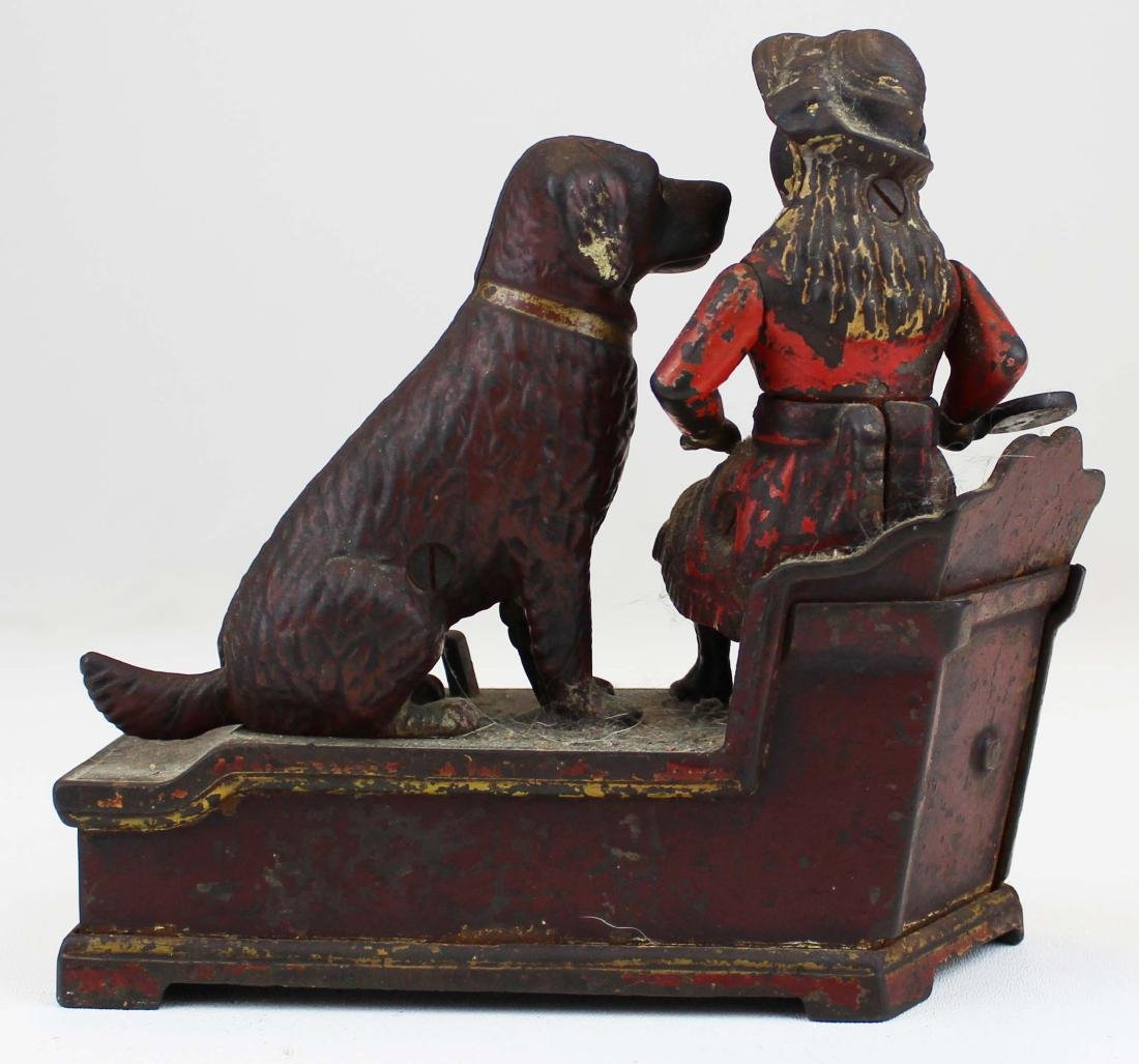 1885 Speaking Dog cast iron mechanical bank - 3