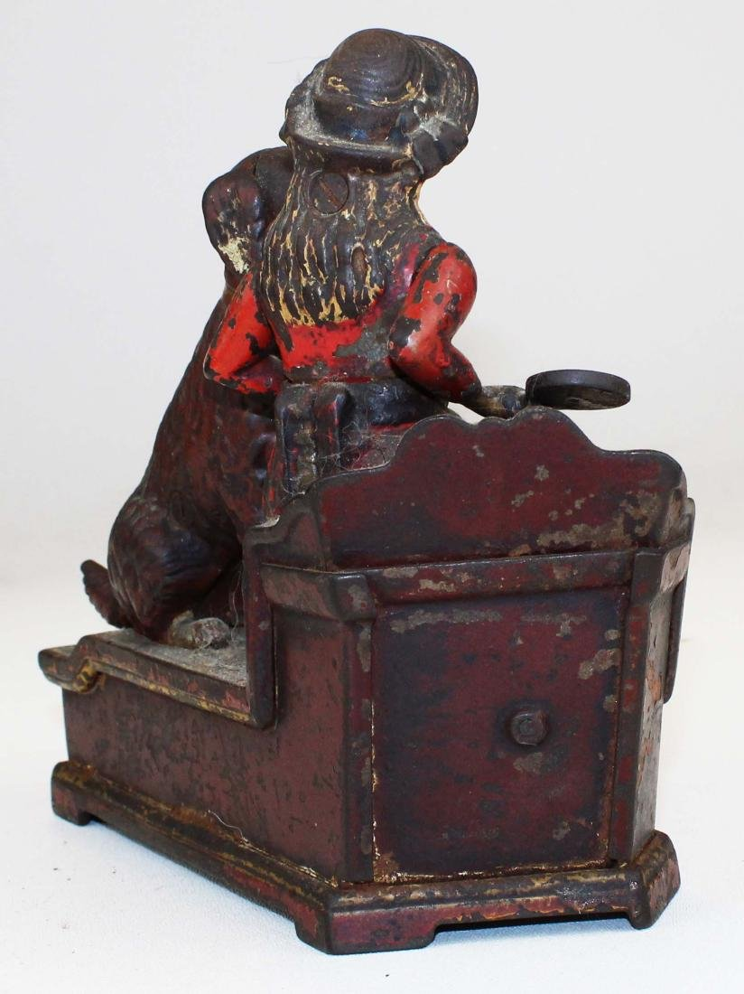 1885 Speaking Dog cast iron mechanical bank - 4