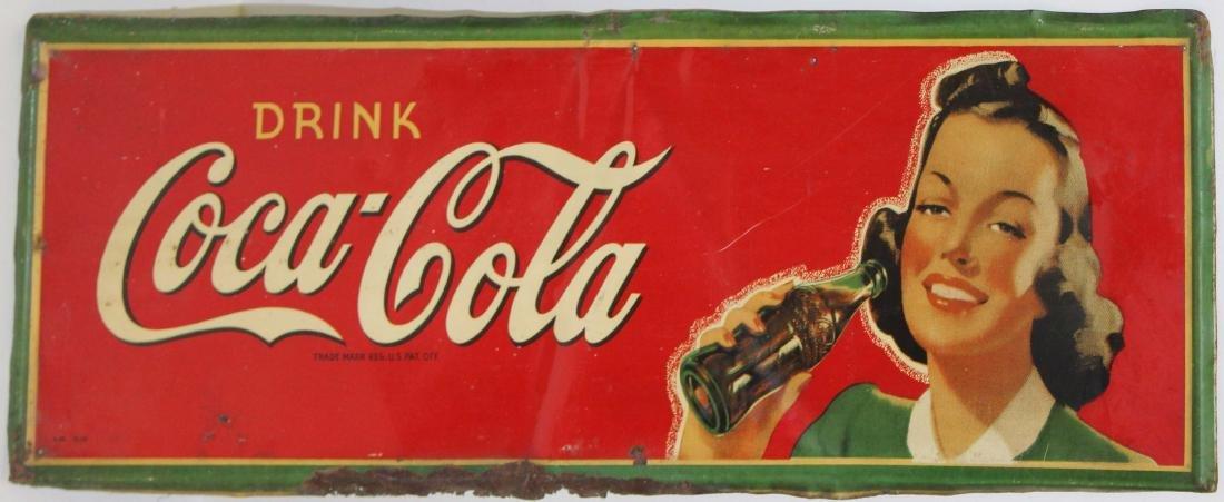 Drink Coca-Cola litho sign