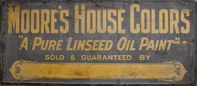 Moore's House Colors sanded wooden sign