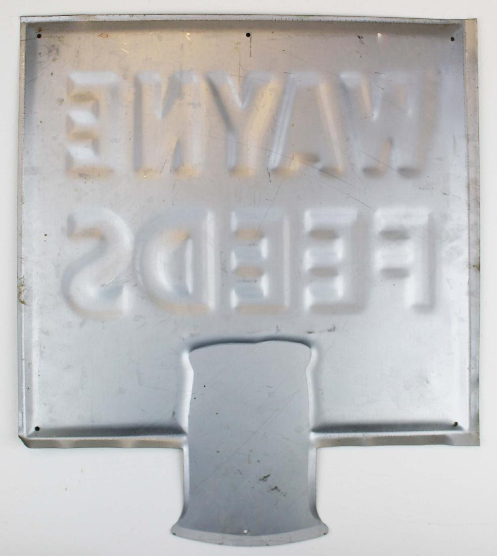 Wayne Feeds embossed tin litho sign - 4