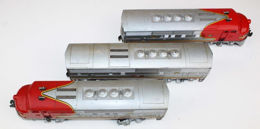 Lionel O gauge Santa Fe 2343, 2343C - 3