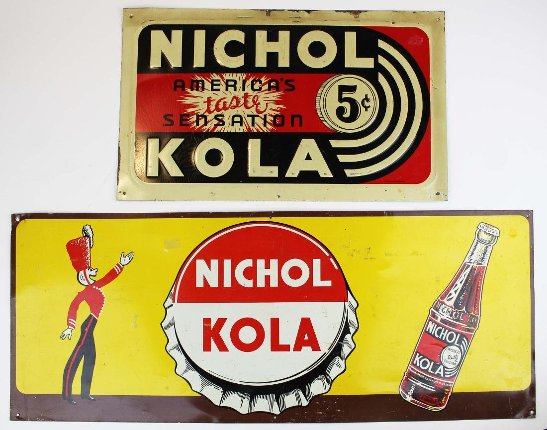 two Nichol Cola advertising signs