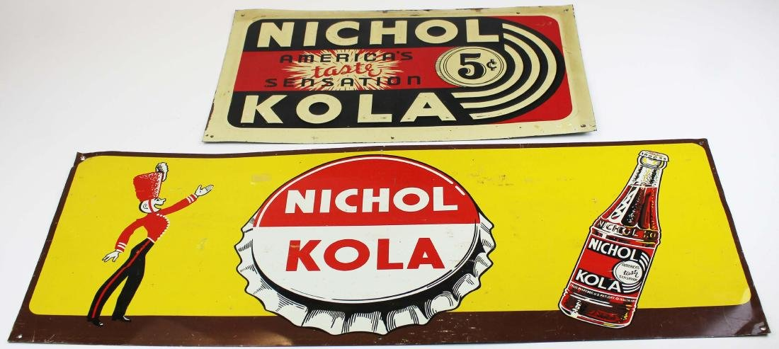 two Nichol Cola advertising signs - 2